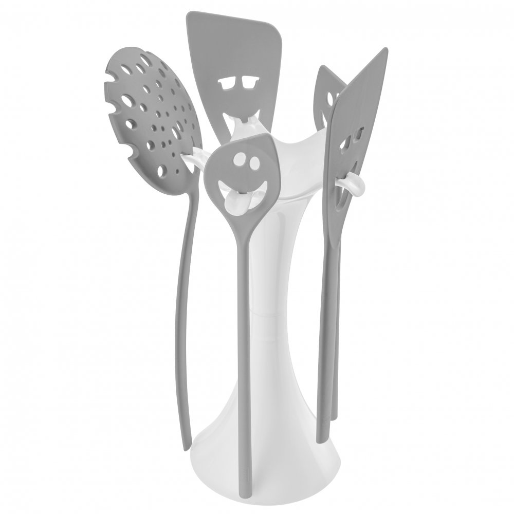 MEETING POINT Utensil Stand Set cotton white-cool grey
