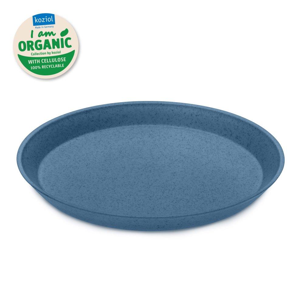 CONNECT ORGANIC small plate 205mm organic deep blue