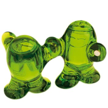 STEP´N PEP Salt & Pepper Shaker transparent olive green