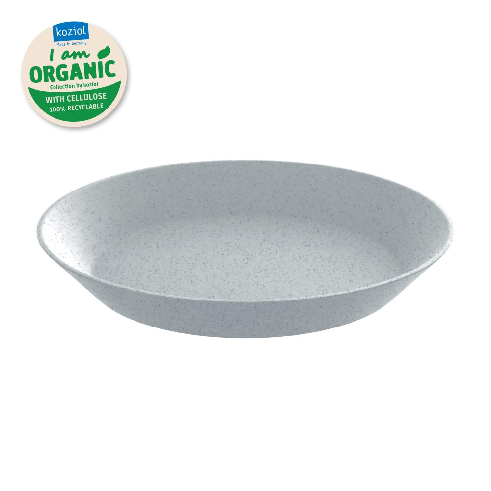 CONNECT PLATE 240mm Tiefer Teller 240mm organic grey