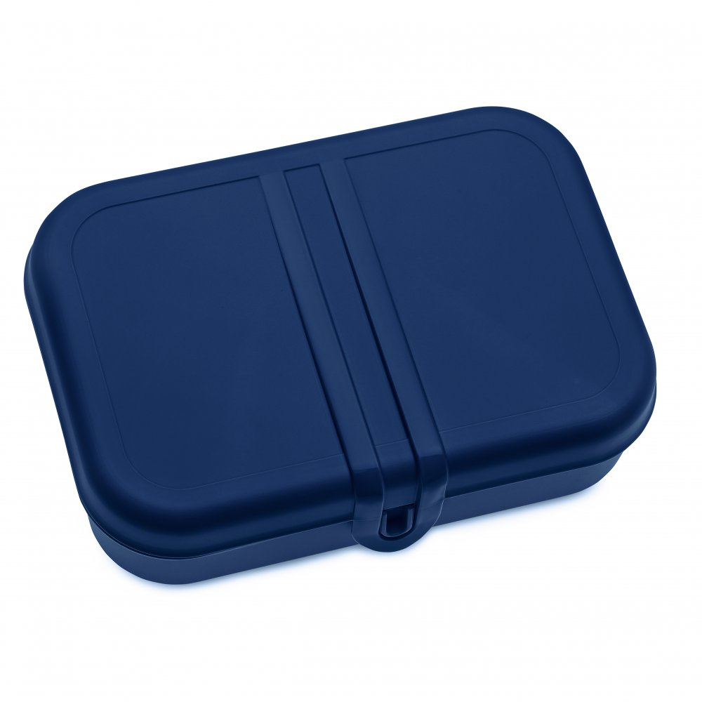 PASCAL L Lunch Box with Separator deep velvet blue-cotton white