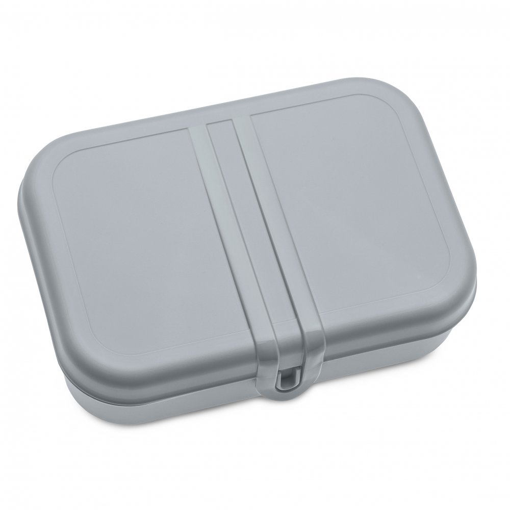 PASCAL L Lunch Box with Separator cool grey-cotton white