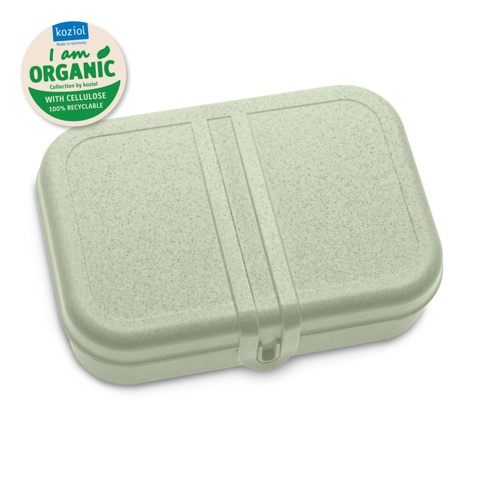 PASCAL L Lunch Box with Separator organic green
