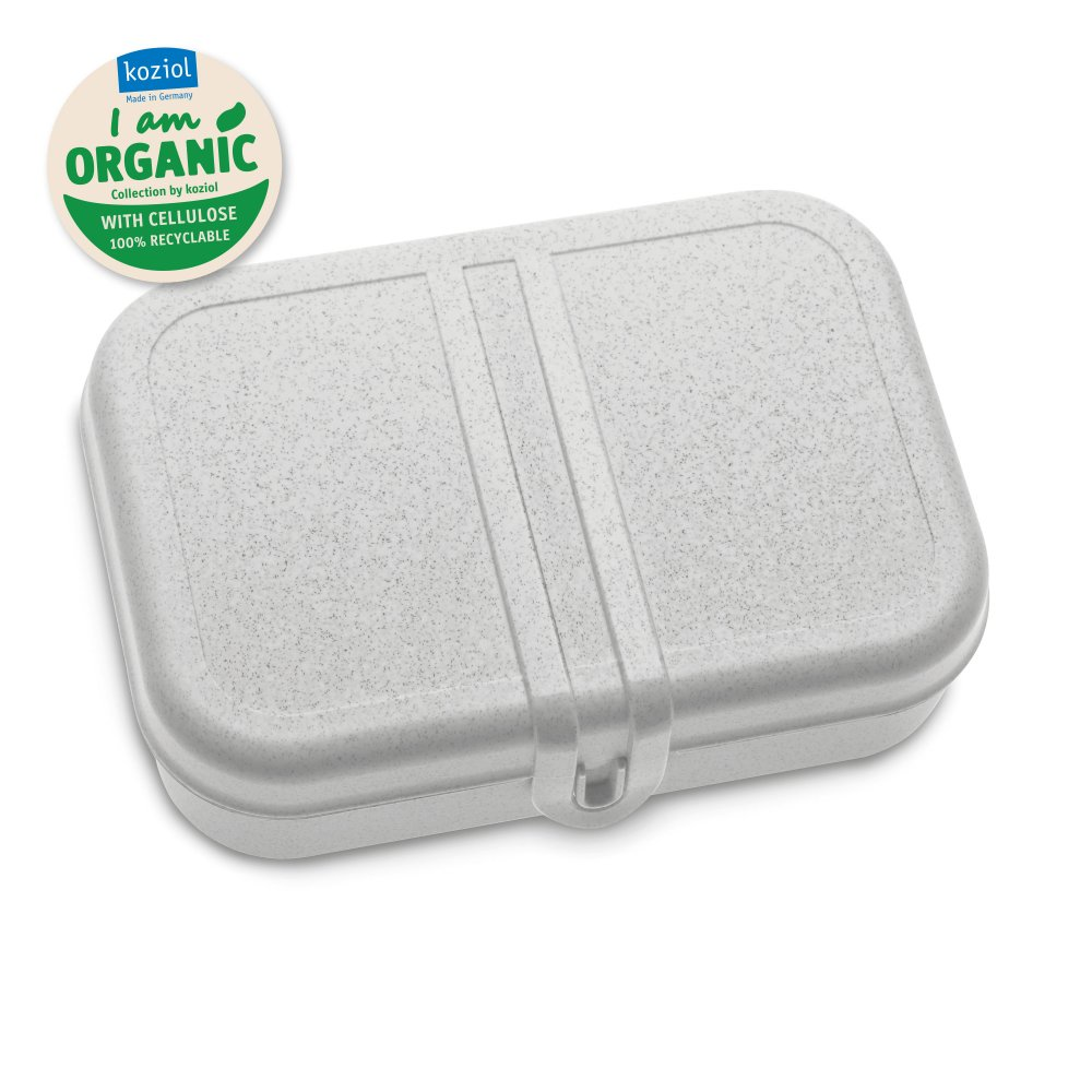 PASCAL L ORGANIC Lunch Box with Separator organic grey