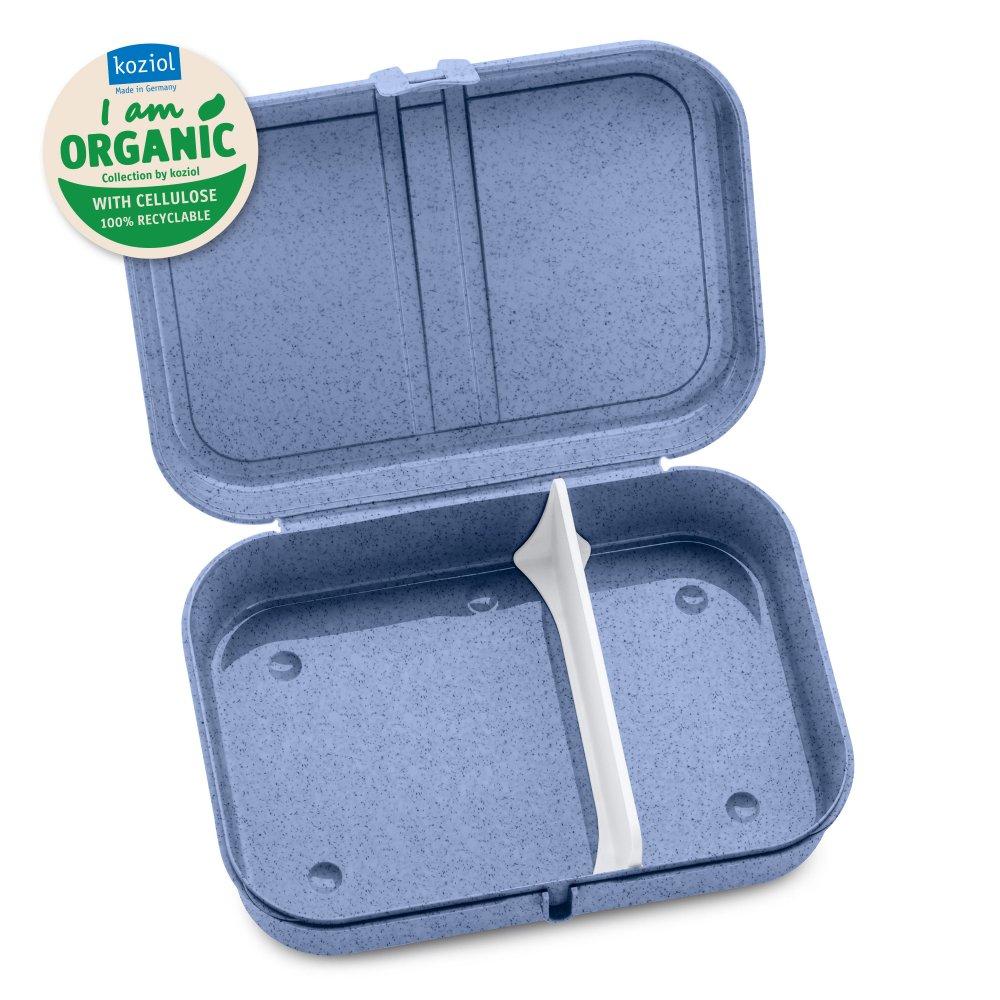 PASCAL L ORGANIC Lunchbox mit Trennsteg organic grey