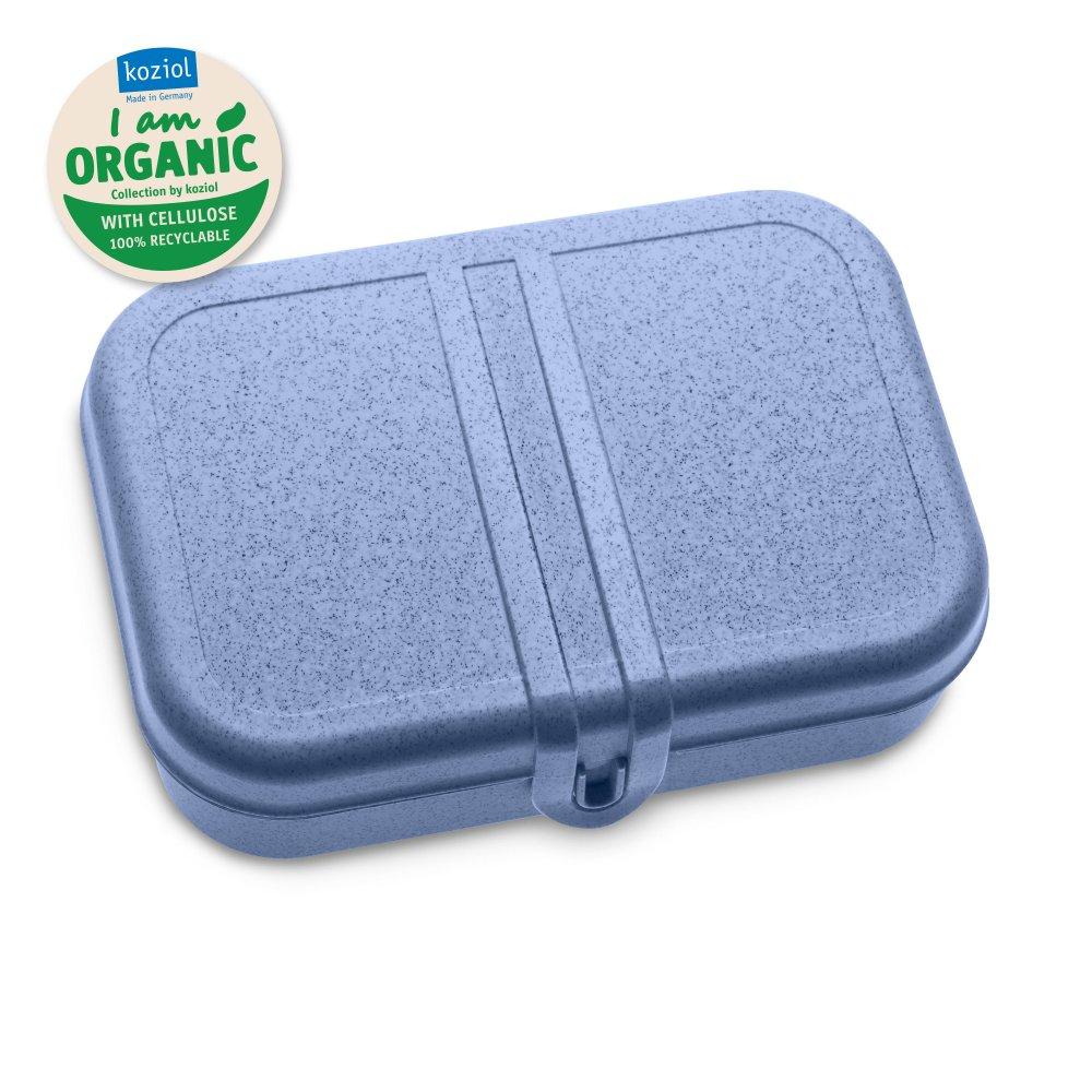 PASCAL L ORGANIC Lunchbox mit Trennsteg organic blue