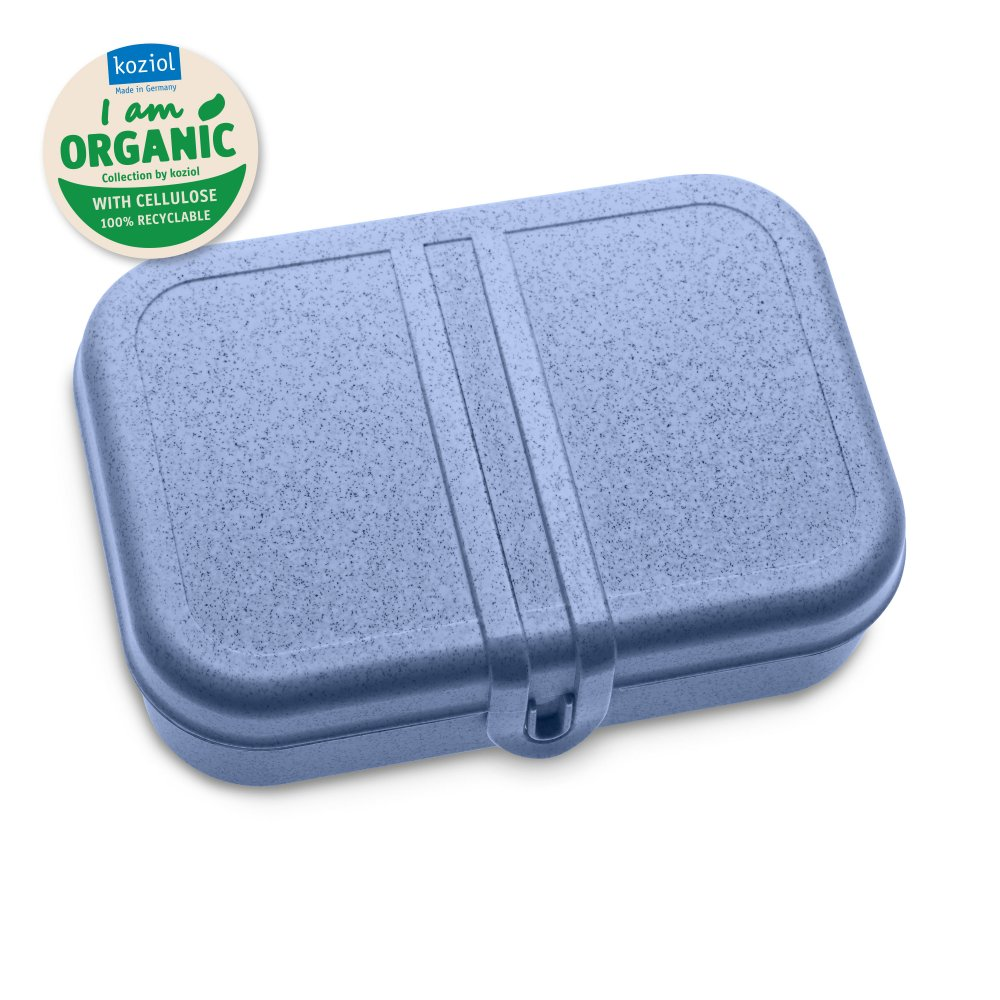 PASCAL L Lunch Box with Separator organic blue