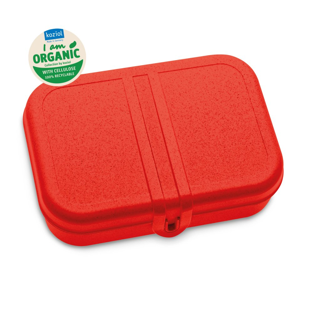 PASCAL L Lunch Box with Separator organic red