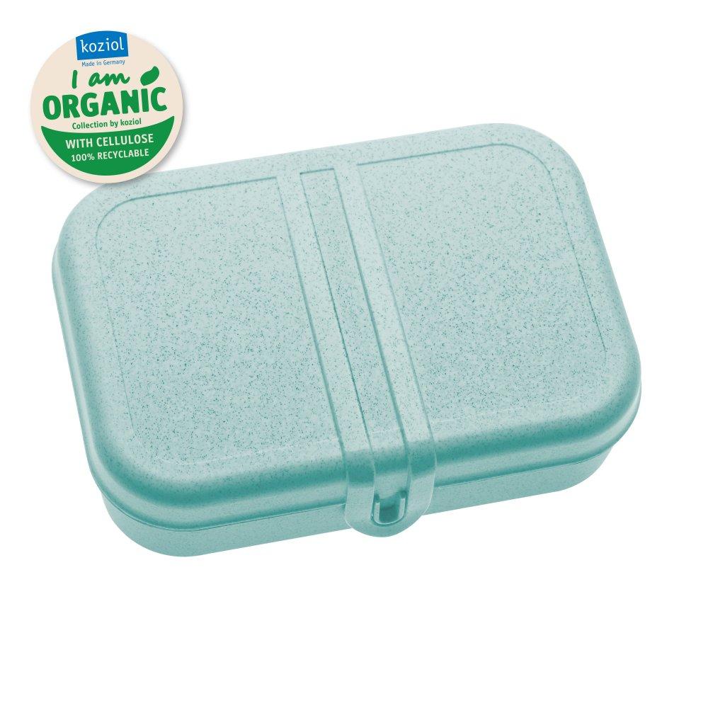 PASCAL L Lunchbox mit Trennsteg organic aqua