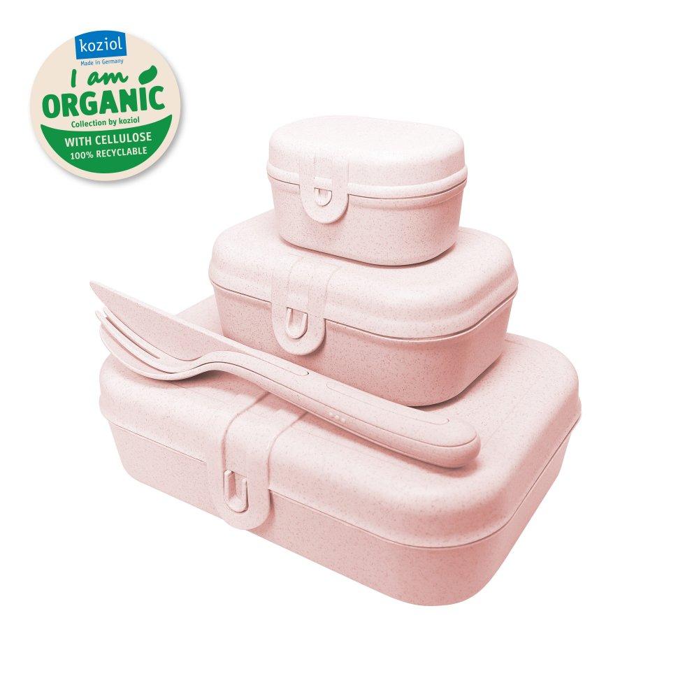 PASCAL READYLunch Box Set + Cutlery Set organic pink