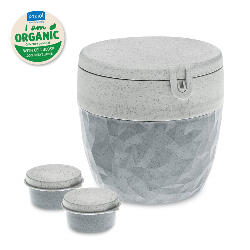 CLUB ORGANIC Bento Box organic concrete grey
