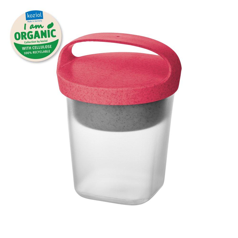 BUDDY 0,5 Snackpot mit Einsatz und Deckel 500ml organic coral-organic white/tr. clear