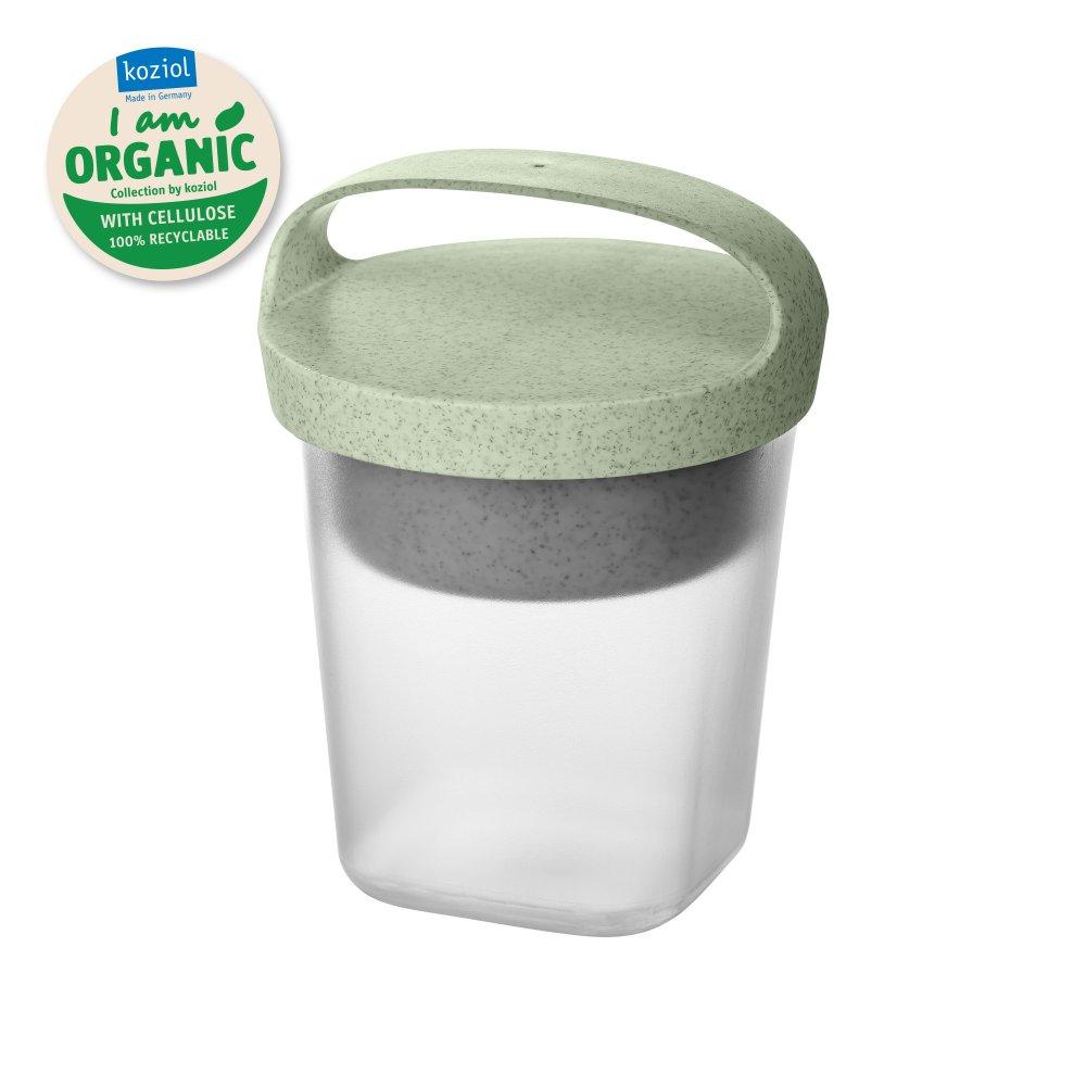 BUDDY 0,5 Snackpot mit Einsatz und Deckel 500ml organic green-organic white/transparent clear