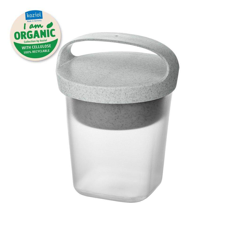 BUDDY 0,5 Snackpot mit Einsatz und Deckel 500ml organic grey-organic white/transparent clear