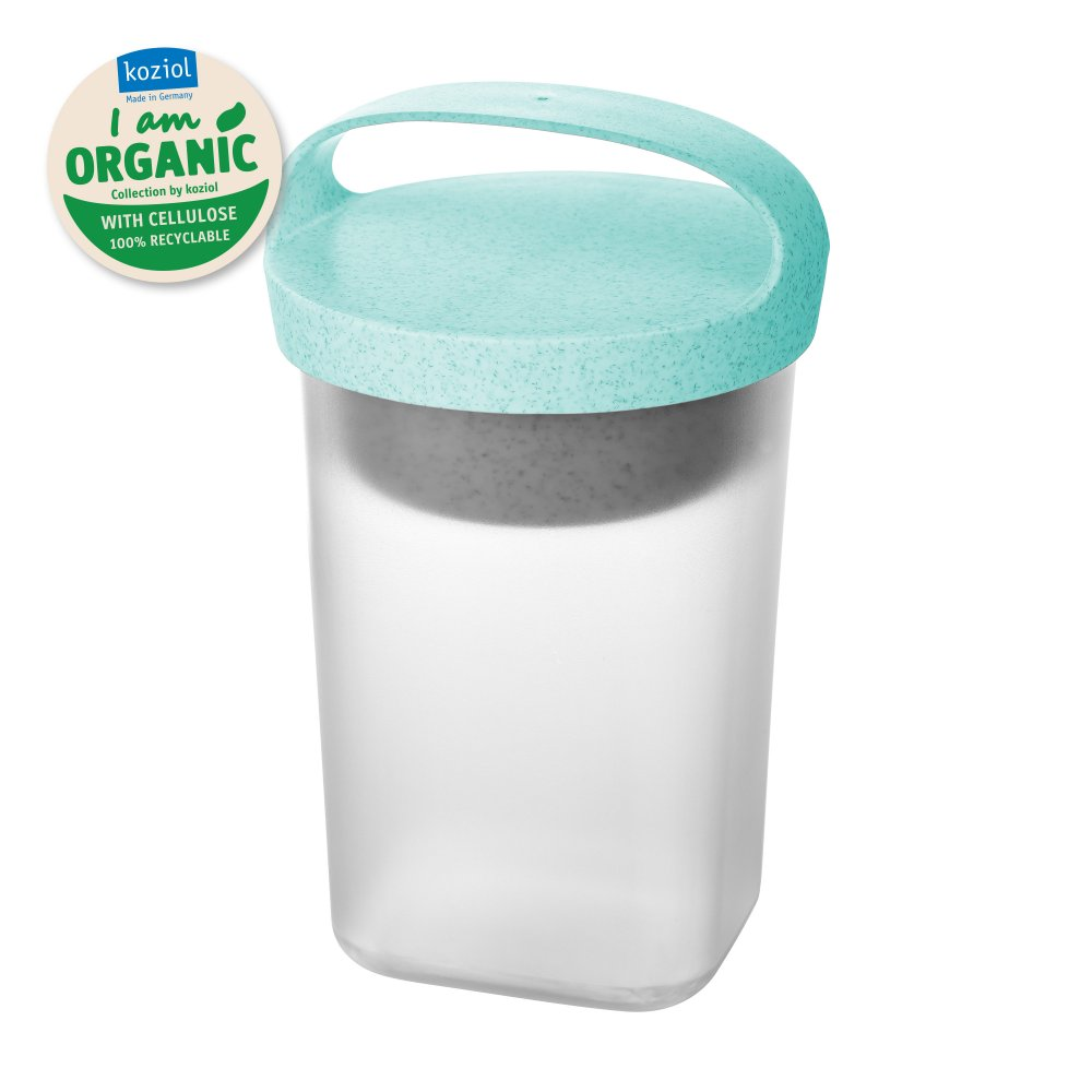 BUDDY 0,7 Snackpot mit Einsatz und Deckel 700ml organic aqua-organic white/tr. clear