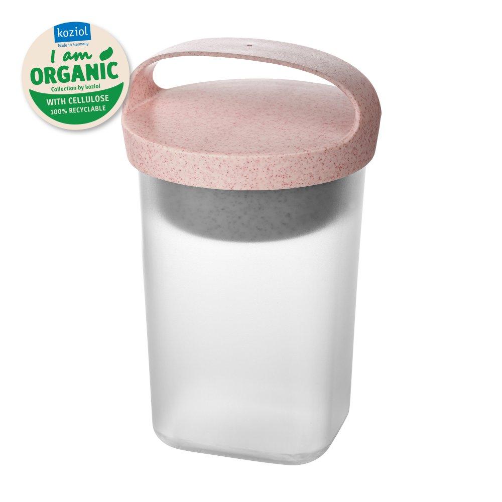 BUDDY 0,7 Snackpot mit Einsatz und Deckel 700ml organic pink-organic white/transparent clear