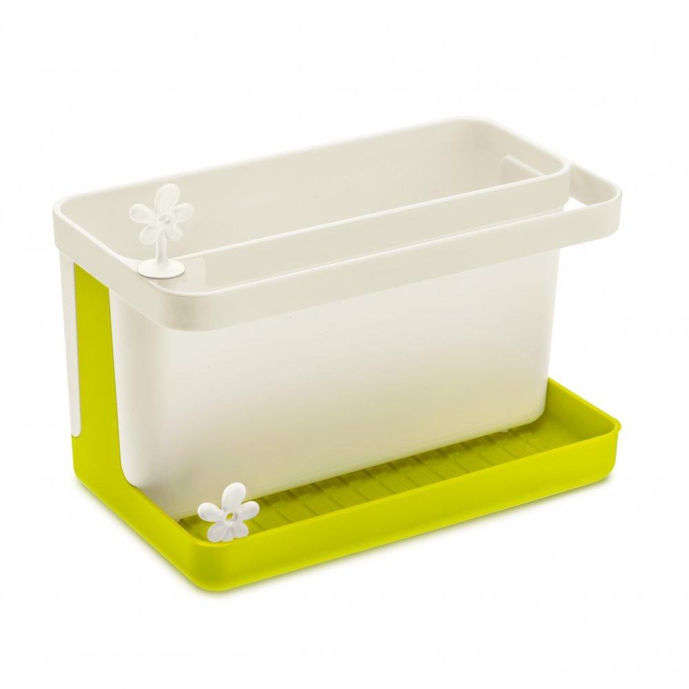 PARK IT Sinkside Organizer mustard green-cotton white