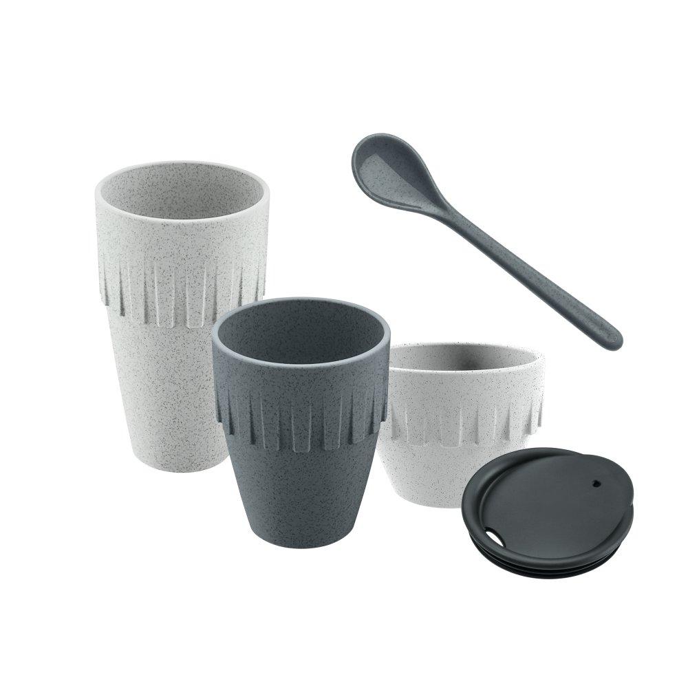 MY COFFEE CONNECT Gift Set organic deep grey/organic grey