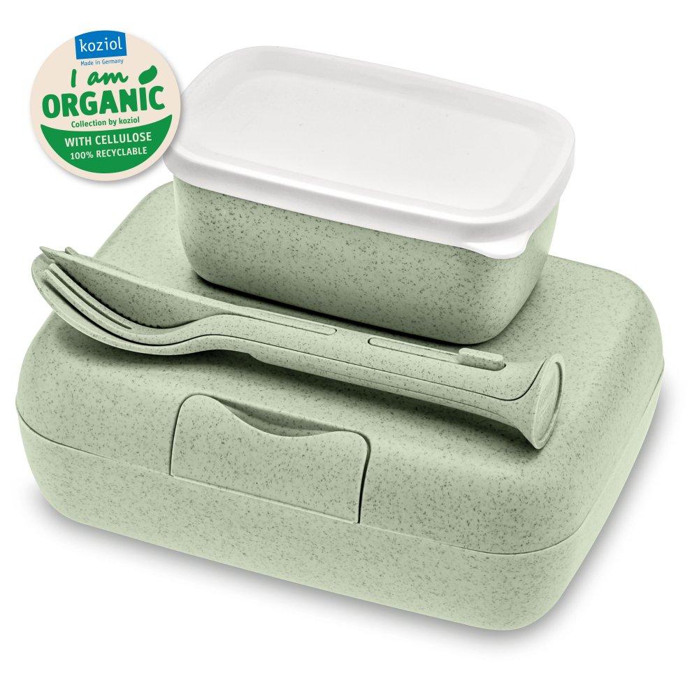 CANDY READY Organic Lunchbox-Set + Besteck-Set organic green