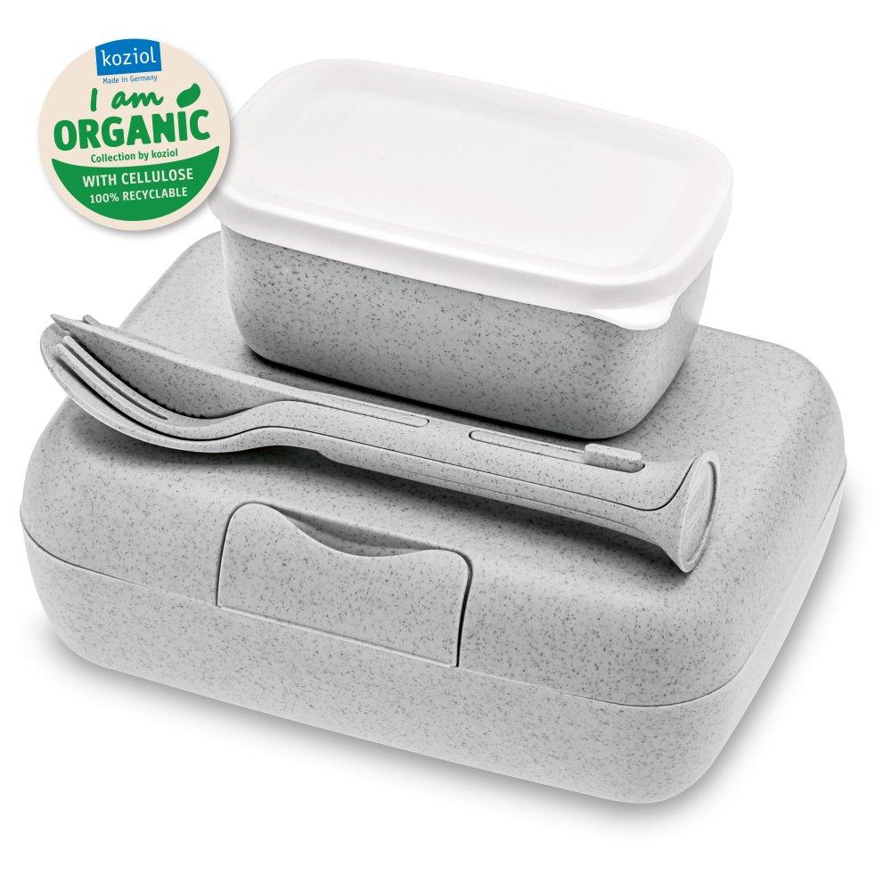 CANDY READY Organic Lunch Box-Set + Cutlery-Set organic grey