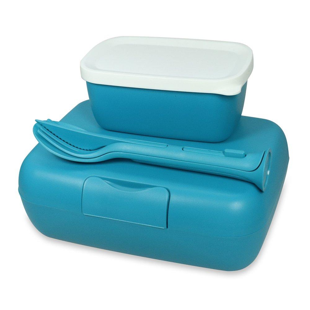 CANDY READY Lunchbox-Set + Besteck-Set ocean blue