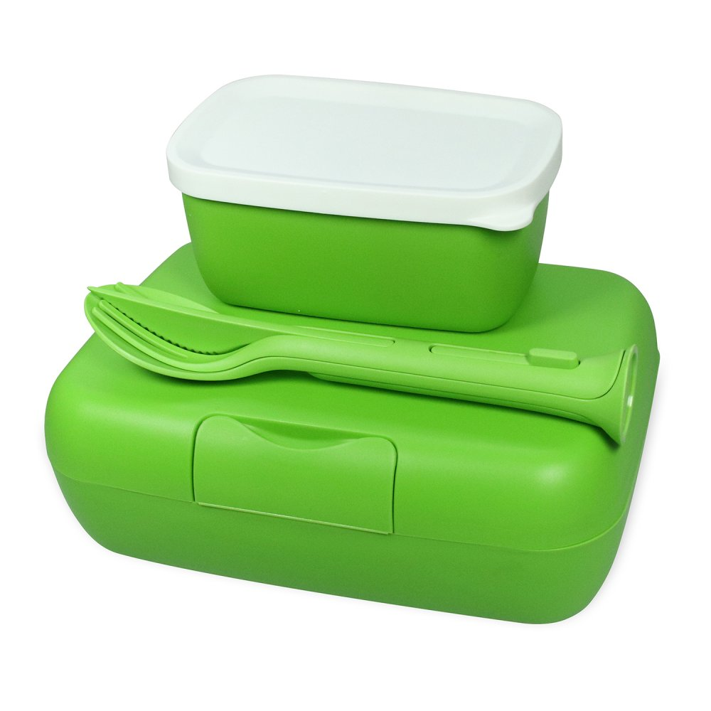 CANDY READY Lunchbox-Set + Besteck-Set healthy green