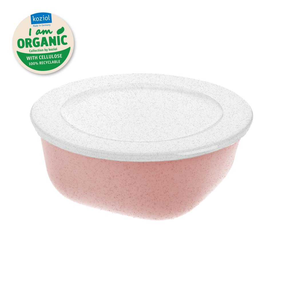 CONNECT BOX 0,7 Box with lid 700ml organic pink-organic white