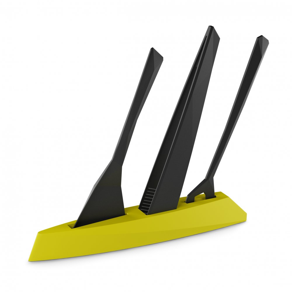 KANT Utensil Stand mustard green-cosmos black