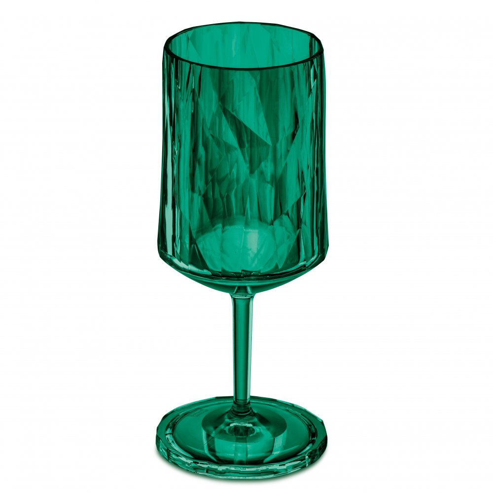 CLUB NO. 4 Glass 350ml transparent emerald green