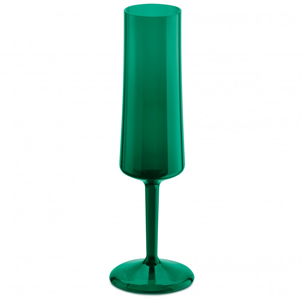CHEERS NO. 5 Glas 100ml transparent emerald green