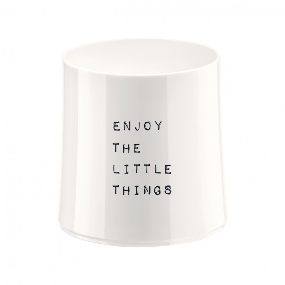 CHEERS NO. 2 ENJOY THE LITTLE THINGS Superglas 250ml mit Druck cotton white