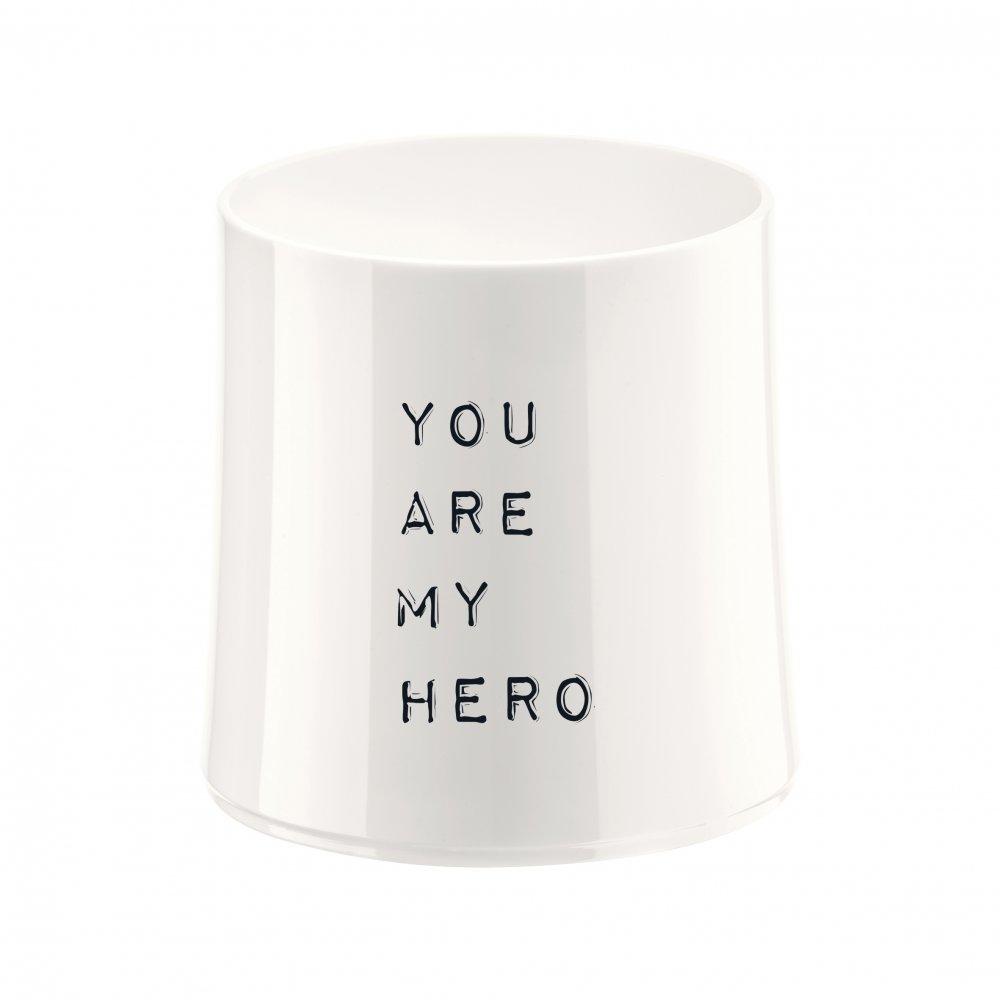 CHEERS NO. 2 YOU ARE MY HERO Superglas 250ml mit Druck cotton white