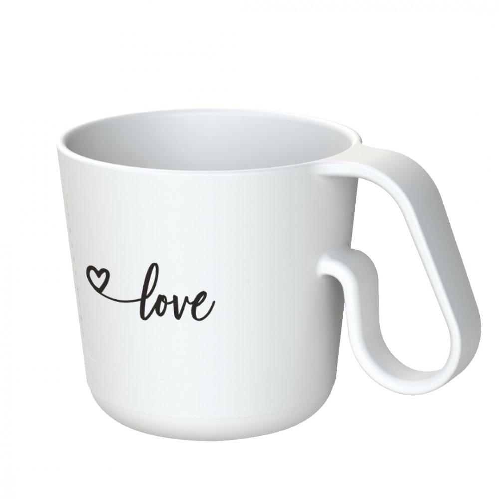 MAXX LOVE Mug with print cotton white