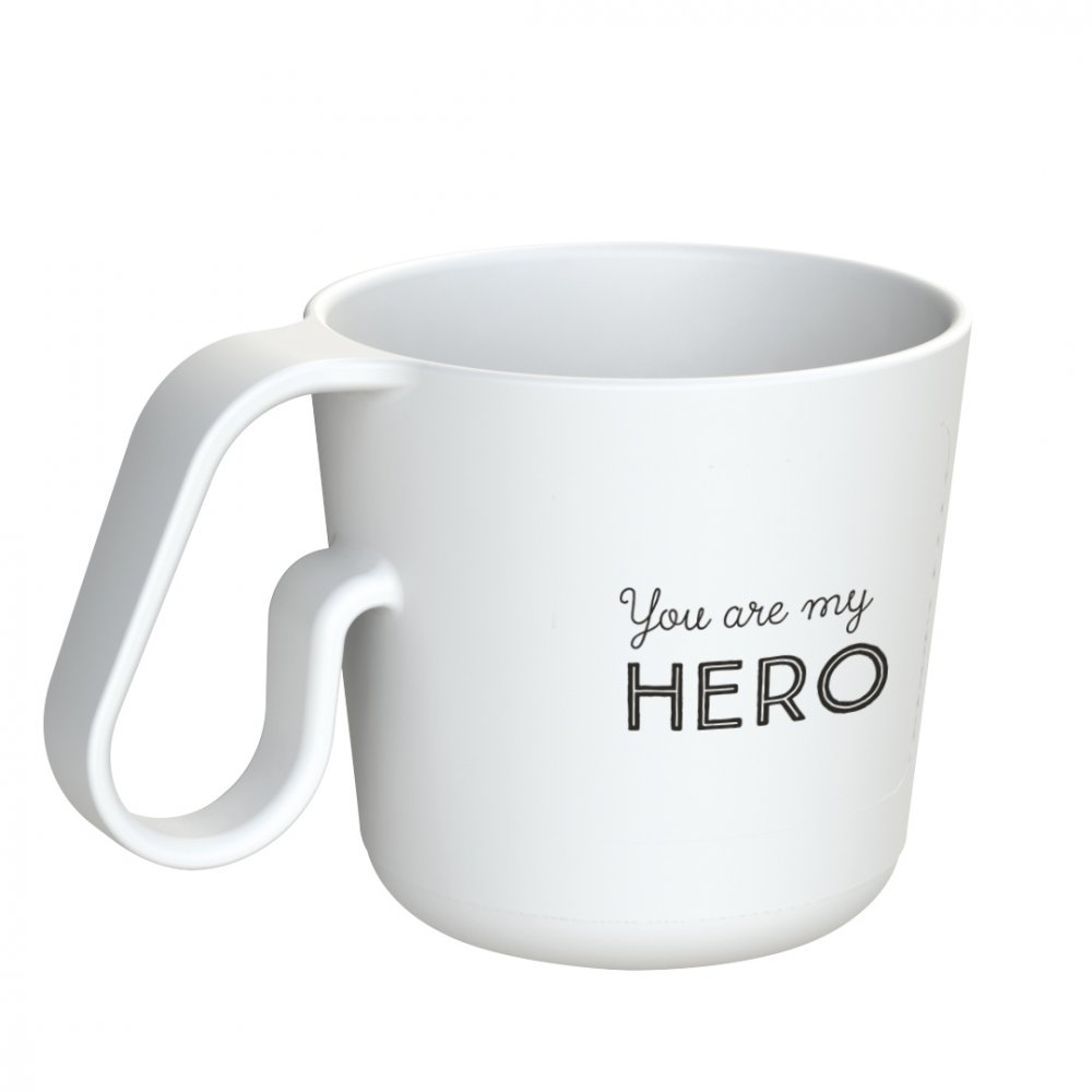 MAXX YOU ARE MY HERO Mug with print cotton white