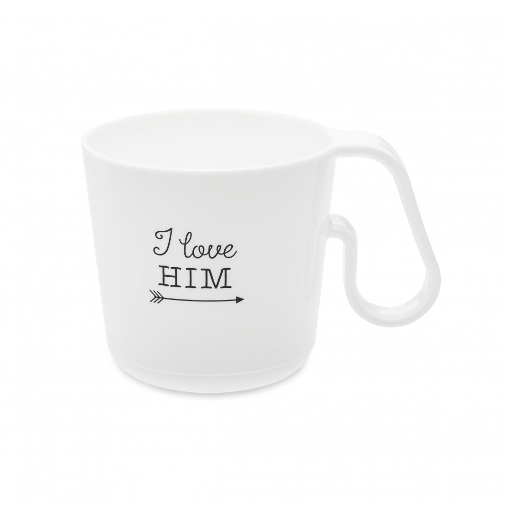 MAXX I LOVE HIM Henkeltasse cotton white
