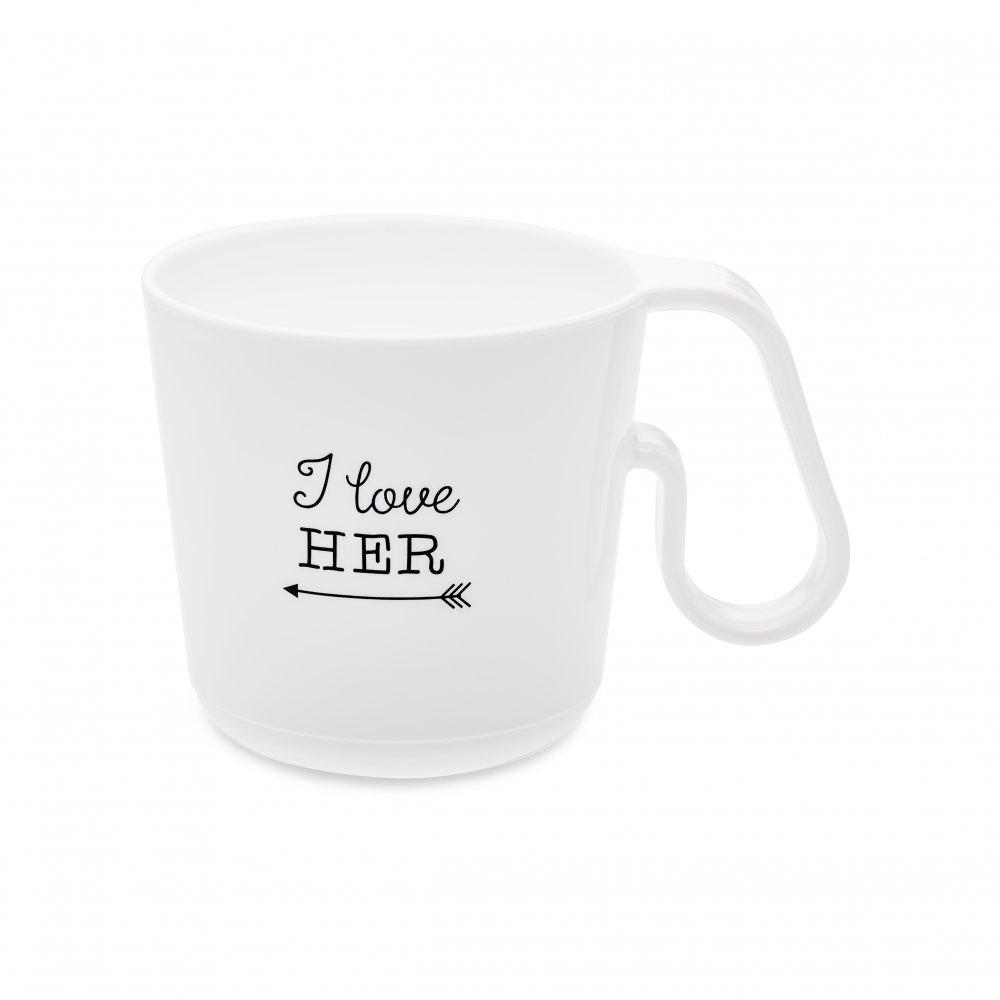 MAXX I LOVE HER Mug cotton white