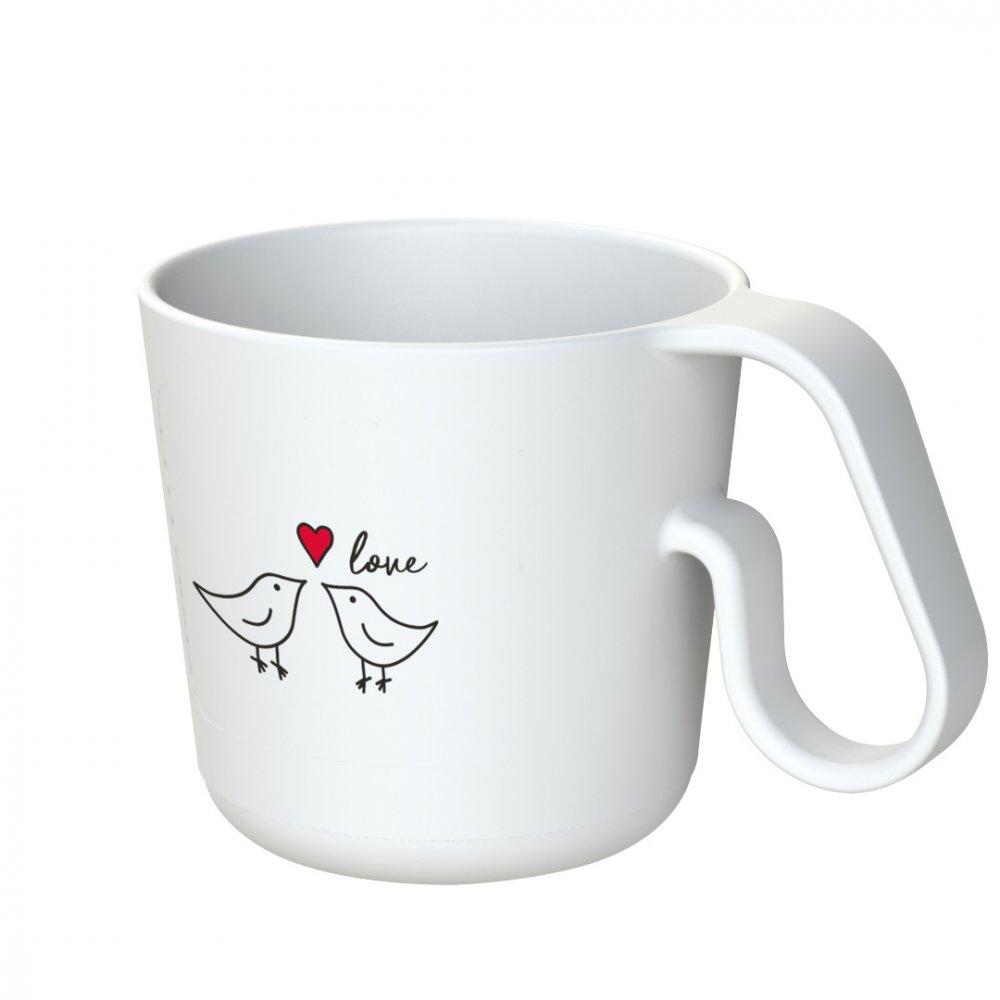 MAXX BIRD LOVE Henkeltasse mit Druck cotton white