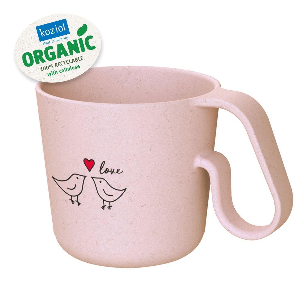 MAXX BIRD LOVE ORGANIC Henkeltasse mit Druck organic pink