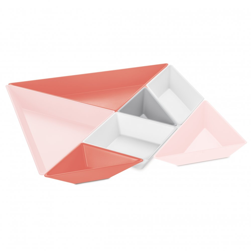 TANGRAM READY Bowl Set cotton white/soft grey/softpeach/queen p