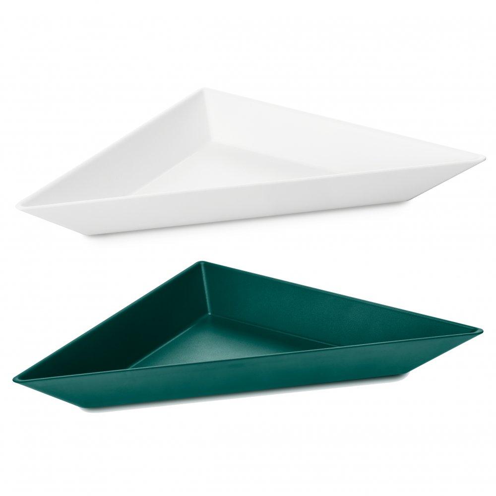 TANGRAM 3 Bowl Set Set of 2 cotton white/emerald green