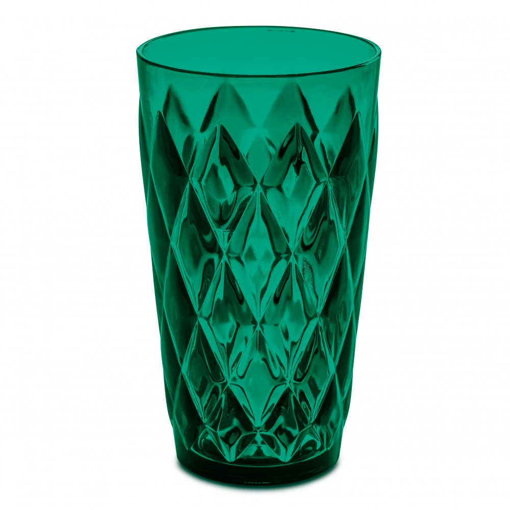 CRYSTAL L Glas 450ml transparent emerald green