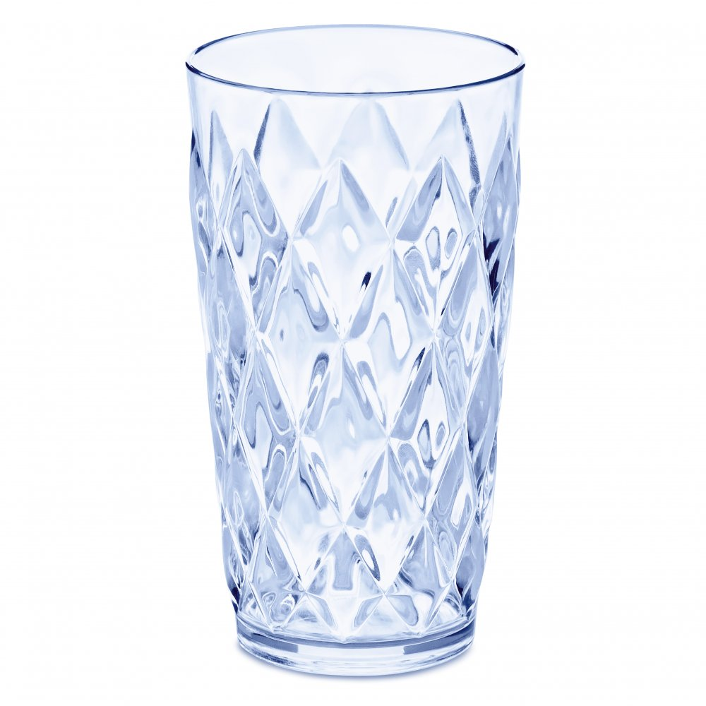 CRYSTAL L Glass 450ml transparent aquamarine