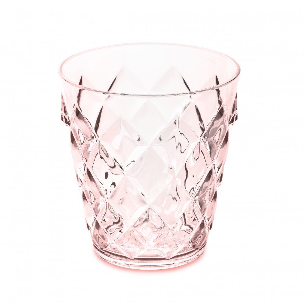 CRYSTAL S Glass 200ml transparent rose quartz
