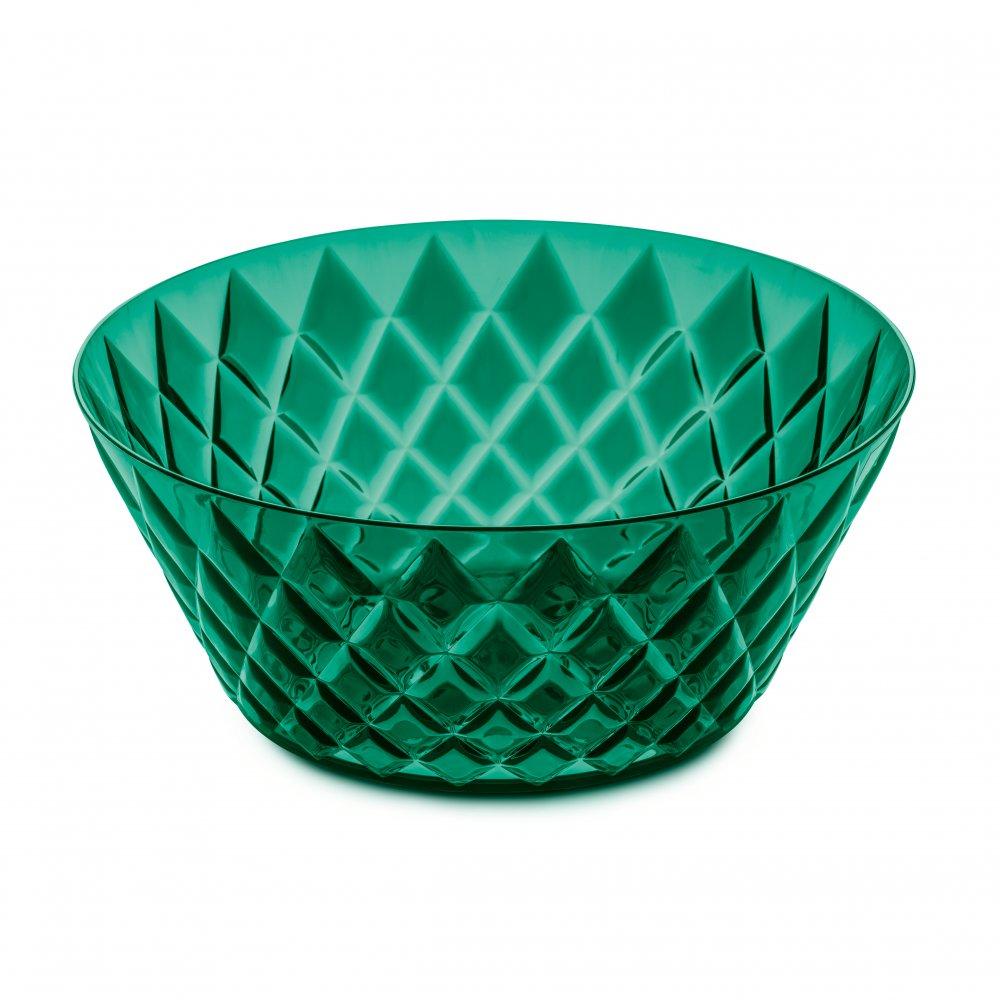 CRYSTAL L Salatschale 3,5l transparent emerald green