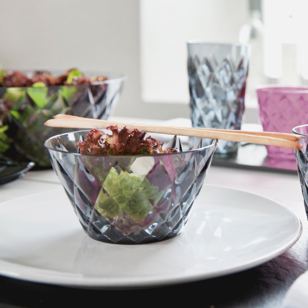 CRYSTAL Salad Bowl 3,5l with 4 bowls