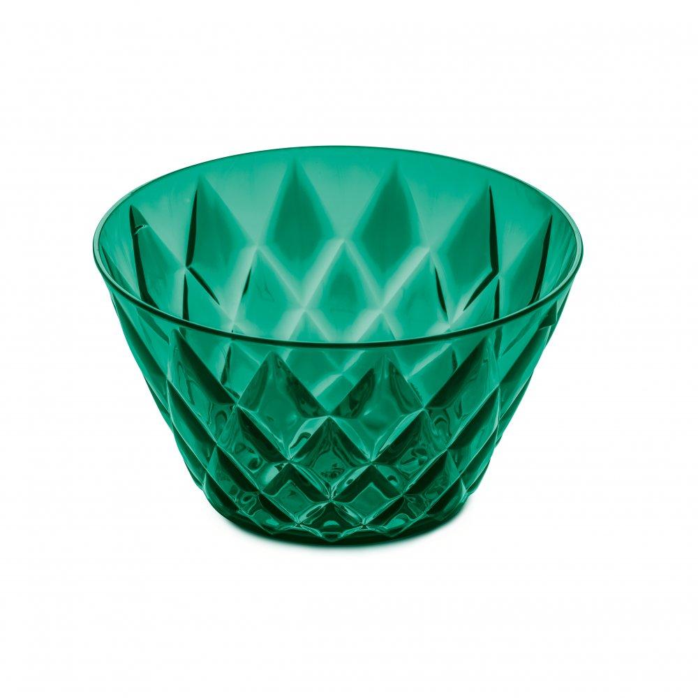 CRYSTAL S Portionsschale 500ml transparent emerald green