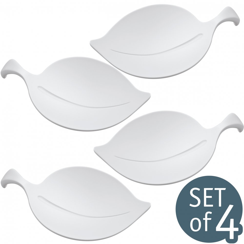 LEAF-ON Schale 4er-Set cotton white