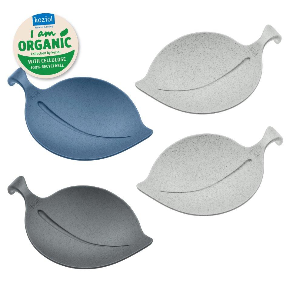 LEAF-ON ORGANIC Schale 4er-Set organic deep blue/organic deep grey/organic grey