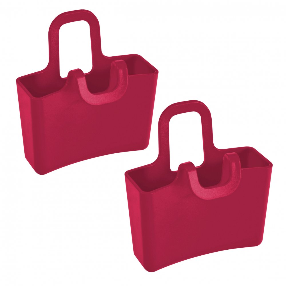 LILLI Mini Cup Carryall Set of 2 raspberry red
