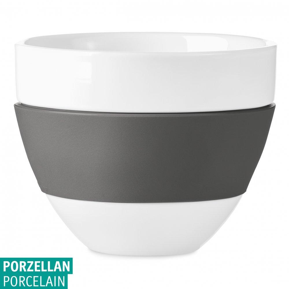 AROMA Milchkaffee-Tasse 300ml cotton white-deep grey